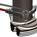 3D simulation of blade root inspection